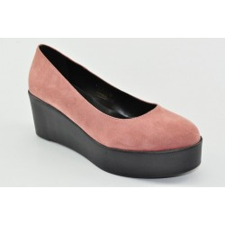 Women's suede wedges Veneti 073