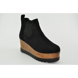 Women's suede wedges booties Veneti 3032