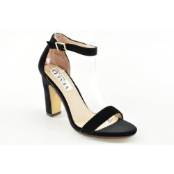 Ankle strap suede sandals JC012