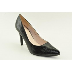 High heel pumps in black finish by Veneti