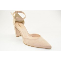 Women's ankle strap suede pumps by Veneti 780
