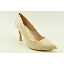 High heel pumps in beige finish by Veneti