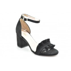 Women's suede ankle strap sandals by Veneti 82491