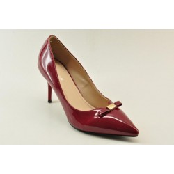 High heel pumps in burgundy finish by Veneti