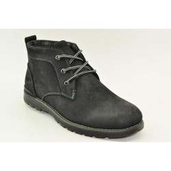 MEN LEATHER BOOTS ALFIO RADO HM103-5 BLACK