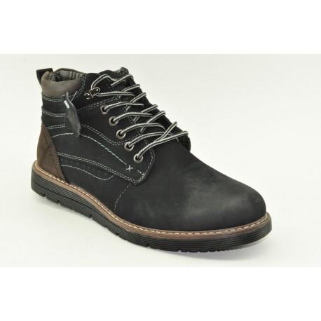 MEN LEATHER BOOTS ALFIO RADOHM154-2 BLACK