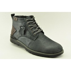 MEN LEATHER BOOTS ALFIO RADO HM80-4 NAVY