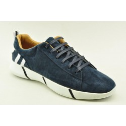 Men leather sneakers Alfio Rado F0043-593 NAVY