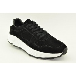 Men leather sneakers Alfio Rado 16066 BLACK