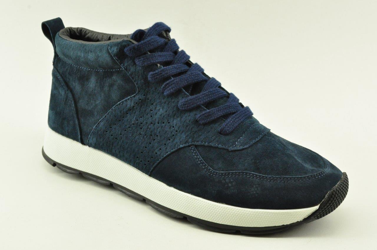 854874eb368 men leather booties sneakers Alfio Rado K292NAVY | VENETISHOES