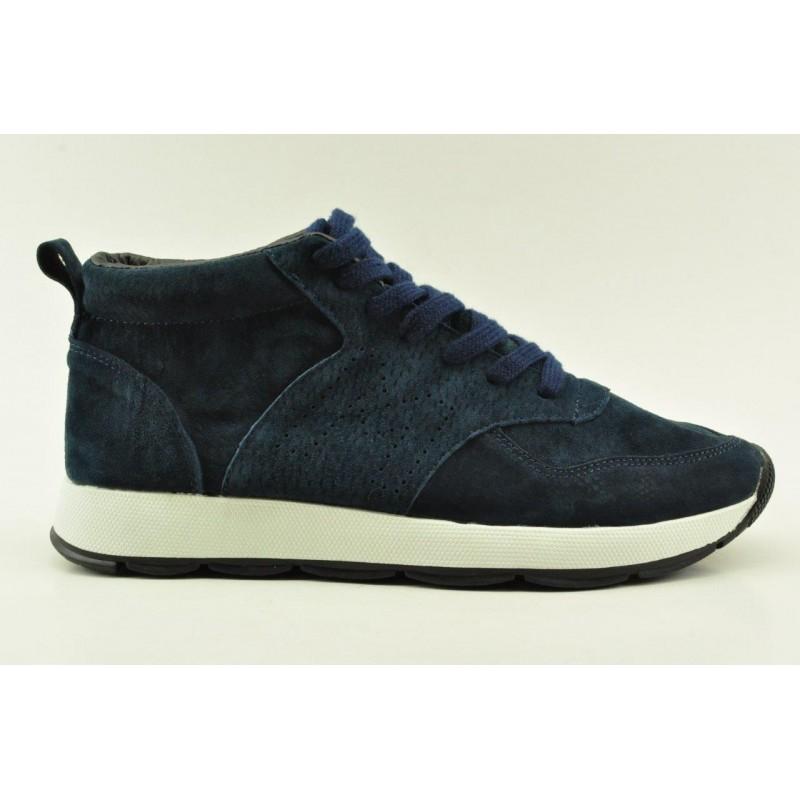 4401e922e5c Ανδρικά μποτάκια sneakers δερμάτινα Alfio Rado K292NAVY | VENETISHOES