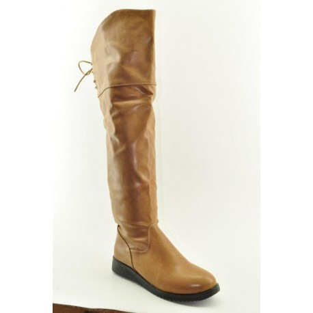 BOOTS OVER THE KNEE VENETI 838-51 CAMEL