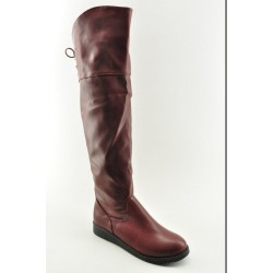 BOOTS OVER THE KNEE VENETI 838-51 MAROON