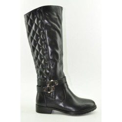 BOOTS WITH FLAT HEEL VENETI B013-D1756 BLACK