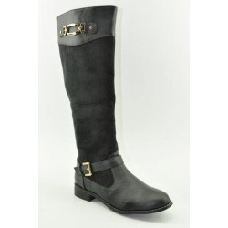 BOOTS WITH FLAT HEEL VENETI C96-6 BLACK