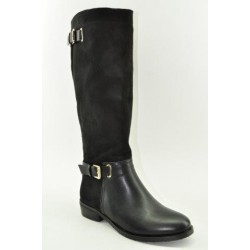 BOOTS WITH FLAT HEEL VENETI K998-M062 BLACK