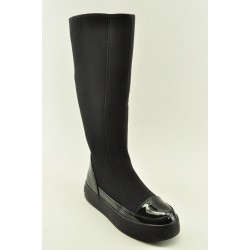 BOOTS WITH FLAT HEEL VENETI 1340-881 BLACK