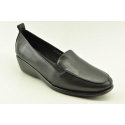 Women's leather anatomic moccasins by Veneti8862-5 BLACK