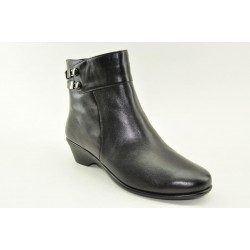 Women's leather anatomic booties by Veneti A8897-30 NAVY