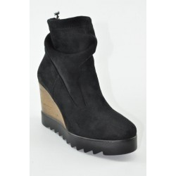 Women's suede wedges booties Veneti DEPY