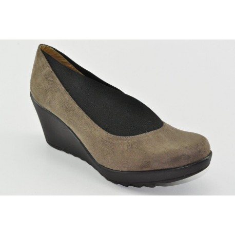 Women's suede wedges Veneti 040