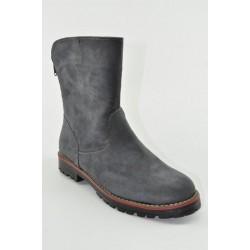 Flat suede booties Veneti 75259