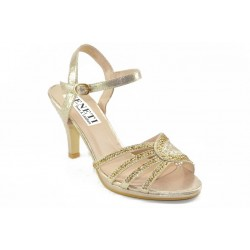 Ankle strap sandals with decorative rhainstones 6826