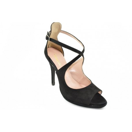 High heeled ankle strap sandals by Veneti 61260