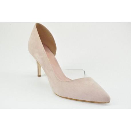 Stylish comfy women's suede pumps by Veneti 83420