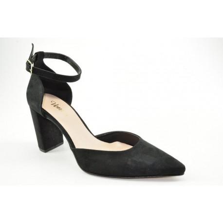 Women's ankle strap suede pumps by Veneti 780