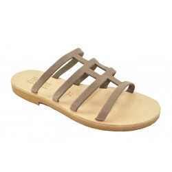 Women's leather sandals by Romance 20-13 d.beige