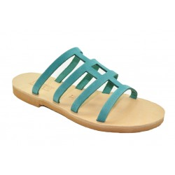 Women's leather sandals by Romance  20-13 turquoise