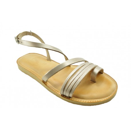 Women's leather sandals by Romance 1801