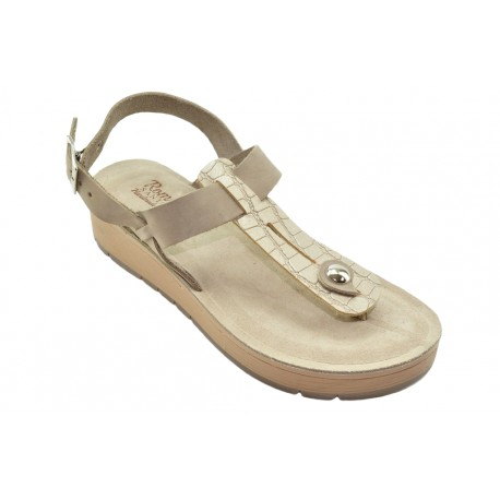 Women's leather sandals by Romance T79