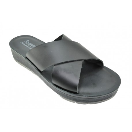 Women's leather sandals by Romance T80
