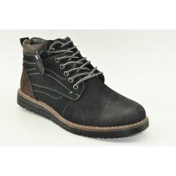 MEN LEATHER BOOTS ALFIO RADOHM154-2 BLACK
