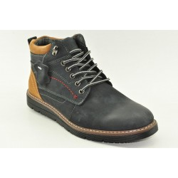 MEN LEATHER BOOTS ALFIO RADO HM154-2 NAVY
