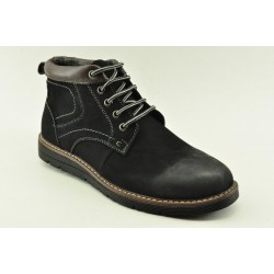 MEN LEATHER BOOTS ALFIO RADO HM154-3 BLACK