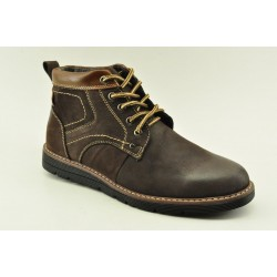 MEN LEATHER BOOTS ALFIO RADO HM154-3 COFFEE