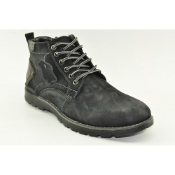 MEN LEATHER BOOTS ALFIO RADO HM80-4 BLACK