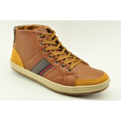 MEN BOOTIES SNEAKERS ALFIO RADO W038L BROWN