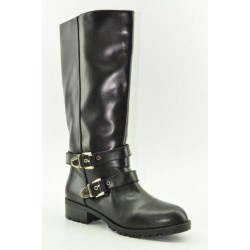 BOOTS WITH FLAT HEEL VENETI 9102 BLACK