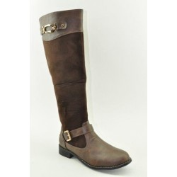 BOOTS WITH FLAT HEEL VENETI C96-6 BROWN