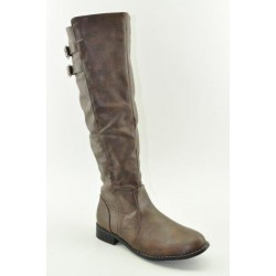 BOOTS WITH FLAT HEEL VENETI C96-9 BROWN