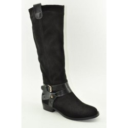 BOOTS WITH FLAT HEEL VENETI JD2250-1 BLACK