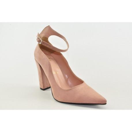 High heel pumps by Veneti 89444 SUEDE