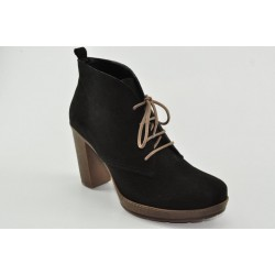 Lace-up leather suede booties Veneti 050